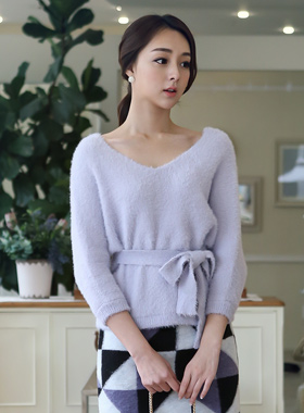 pastel V-neck Knit Stingrays