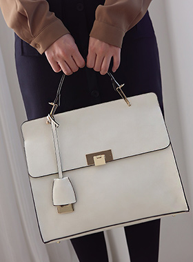 Square large Gold Tote