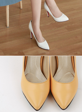 V-colored cushion heel