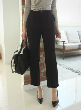 Pin tuck semi-Wide Pants