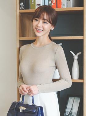 Basic Slim Fit Round Knit (spring)