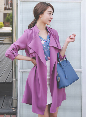 China double wing Trench Coat