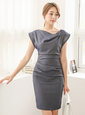 Check cowl neck pin Span One Piece (summer)