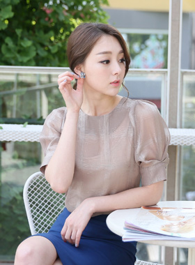 Luxury See-through look Playa de Blouse