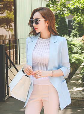 Cooling See-through look Boxy Jacket