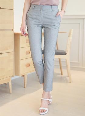 Linen Tweed Slim Slacks (summer)