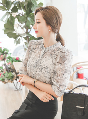 Art See-through look Blouse