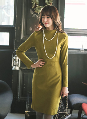 Wool Slim H-line dress