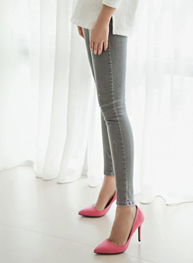 Gray Skinny Denim Pants