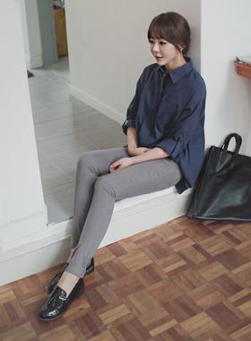 Cotton side zipper Jeans