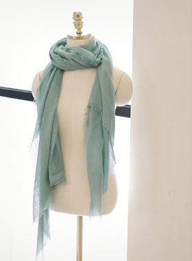 Corrugated plain scarf
