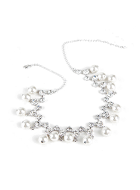 diamond pearl Necklace