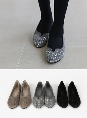V teuim Beads Flat shoes