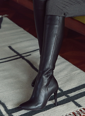 slimline side zipper heel boots