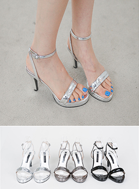 Metallic embossing Strap Sandals Hill