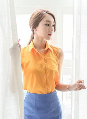 Daily Kara Sleeveless shirts Blouse