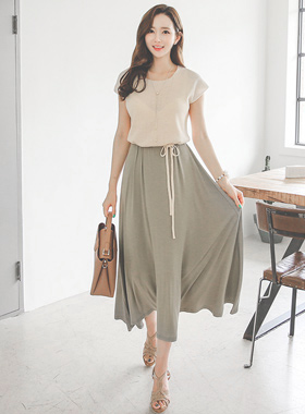 Natural color knitted maxi One Piece