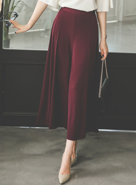 Silky Jersey Flare Wide Pants