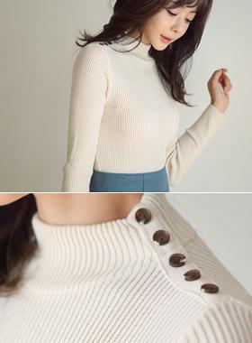 Corrugated Knit button halfway Paula