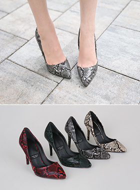 Luxury Snake skin Stiletto Heel