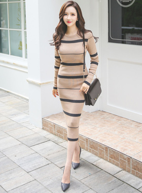 Eoteom line Long Knit Dress