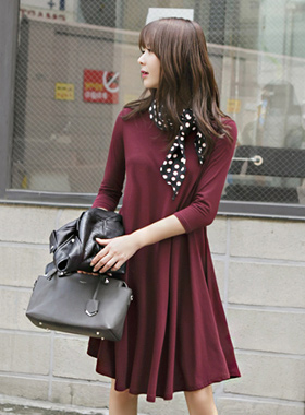 Back Ribbon Flare Dress