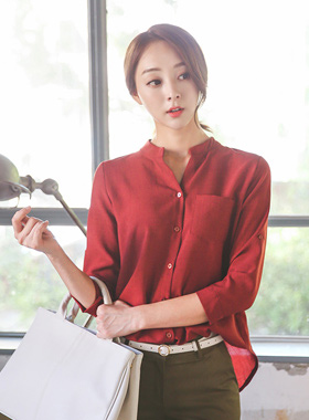 Basic half open China Shirt