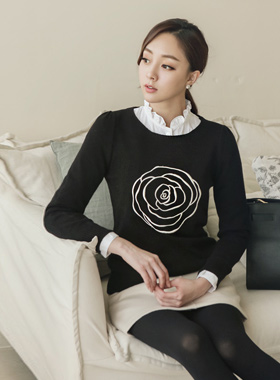 Rose Knit one