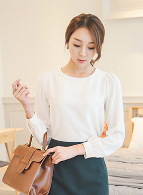 Basic ignorance Raund neck Blouse (Long Sleeve)