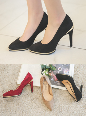 Tips Suede pumps Gold Hill