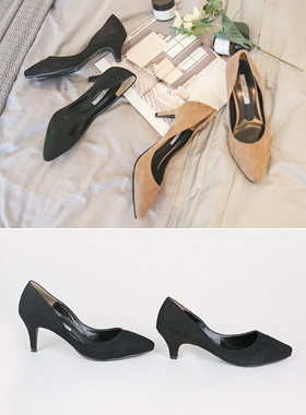 Daily Suede middle Pump (5cm / 7cm)