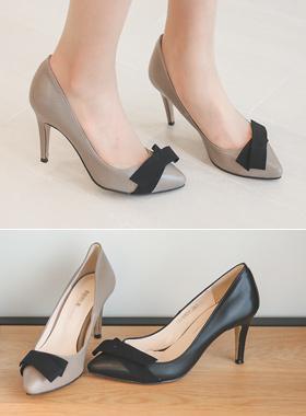 Marion heel pumps bowknot