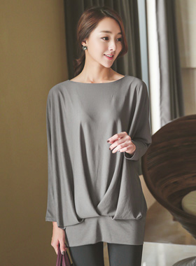 Drape Blouse Top Long volume