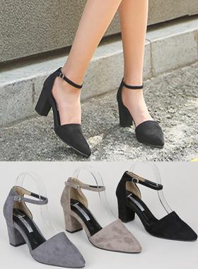 Suede Strap Middle heel