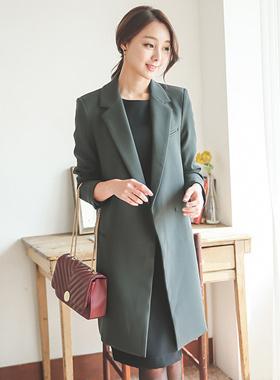 Long jacket collar slim semi Park Sihoo