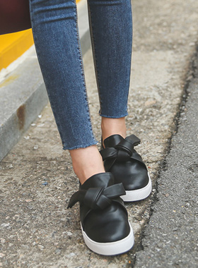 bowknot twist Slip-on Shoes