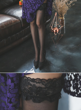 Lace band over your tights