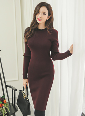 Basic line Knit Dress