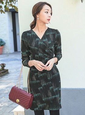 Wrap Dress Ruched touch Span