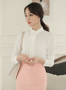 Wedding Rose Corsage Blouse