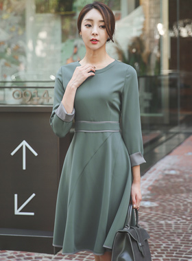 Gather Aurora Flare Dress