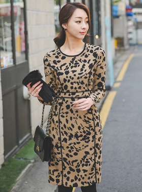 Bias Leopard Dress