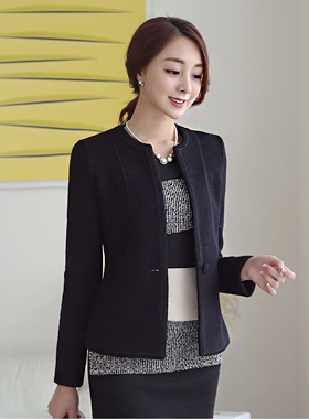 Rounding piping Wool Jacket