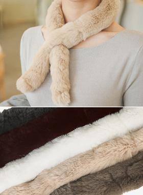 Real Rex Petit fur muffler