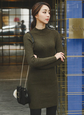 Rouelle half Knit Dress Pola