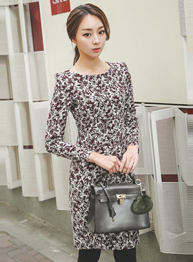 maple Jacquard Dress