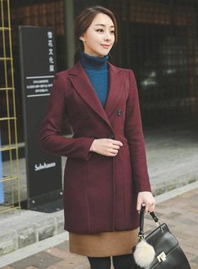 Basic stitch Harp wool jacket