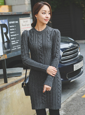 Cache raemseuul Cable Knit Dress