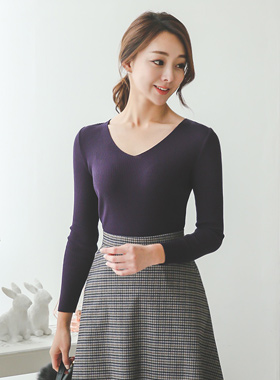 Daily V-neck Knit