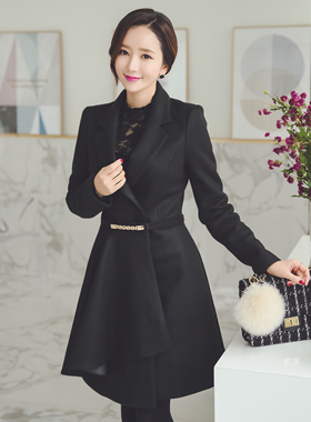 Marion chain belt Flare Coat